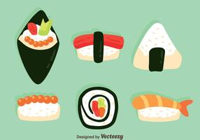 Vetores de coleção de alimentos japoneses
