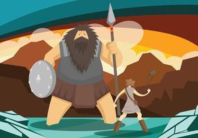 Fundo do vetor david e goliath