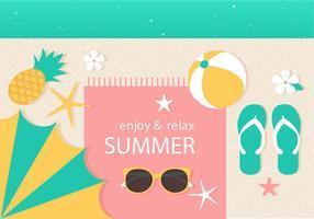 Ilustração vetorial livre de verão vetor