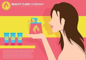 Ilustração vetorial da clínica de beleza vetor