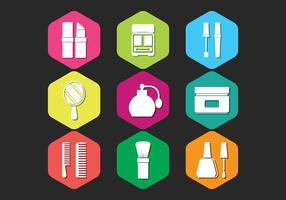 Conjunto de ícones da clínica de beleza vetor