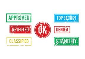 Conjunto de selos empresariais vetor