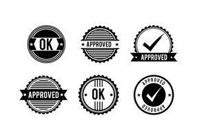 Logotipo do cachet vetor livre