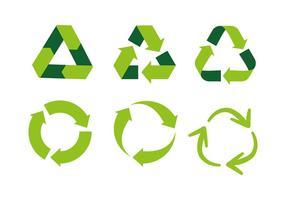 Símbolo biodegradável Vector grátis