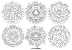 Coleção bonita das formas de mandala