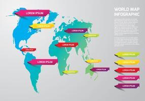 Modelo de mapa mundial vetor