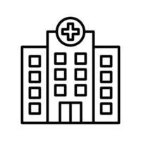 ícone de contorno de hospital vetor