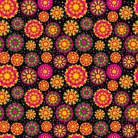 padrão sem emenda com ornamento étnico brilhante