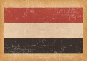 Bandeira do Grunge antigo do Iêmen vetor