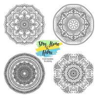 Mandala redonda ornamentos florais