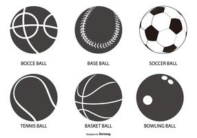 Coleção Sport Ball Shapes vetor