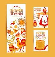conjunto de cartas e banner com o tema carnaval