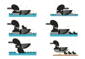Vetor de pato loon