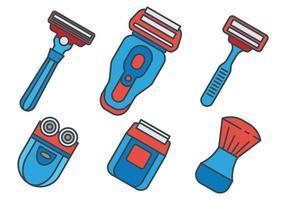 Ícones do vetor Shaver