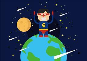 Ilustração dos Super Heroes vetor
