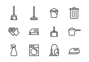 Ícone de ferramentas de limpeza vetor