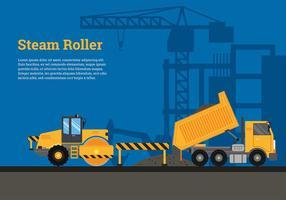 Estrada de rolamento a vapor construir vetor livre