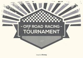 Ilustração de estilo retro de corrida offroad vetor