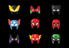 Máscaras do super-herói vetor