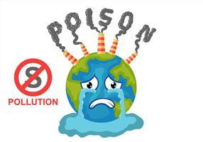 Pare o vetor de fundo do ar da poluição