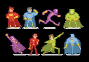 Vetor de desenhos animados Super Heros