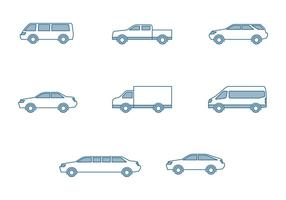 Ícones de carros modernos vetor