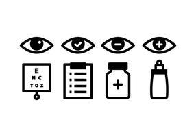 Pacote de ícones de optometria vetor