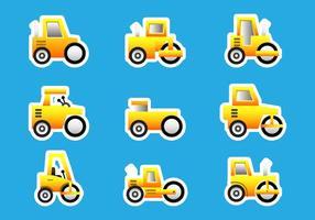 Bulldozer do rolo da estrada adesivos vetor