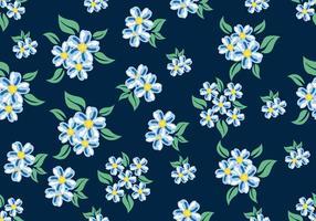 Padrão floral ditsy sem costura vetor
