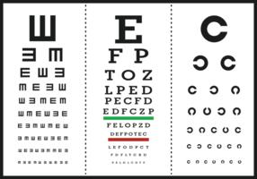 Vetores do poster da letra do teste do olho