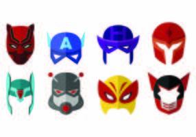 Vector de máscaras do super-herói