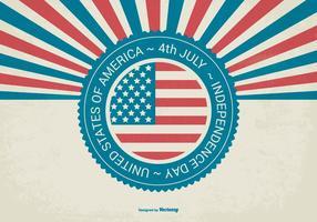 Fundo retro do Dia da Independência