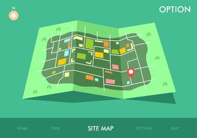 Mapa do site Opção do jogo Free Vector