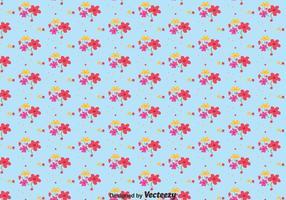 Flor ditsy print pattern vector
