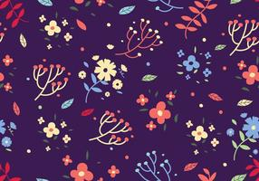 Fundo floral livre do vetor do impressão de Ditsy