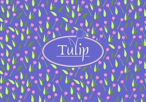 Tulip disty pattern free vector