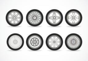 Vetor de rodas de liga leve