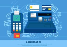 Sistema de pagamento do leitor de cartões vetor