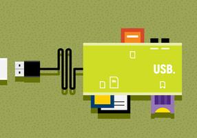Ilustração vetorial USB vetor