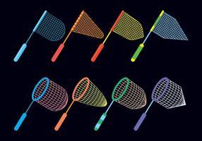 Conjunto de ícones vetoriais da mariposa vetor