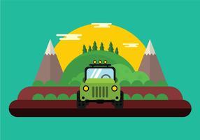 Jeep fora da estrada vetor