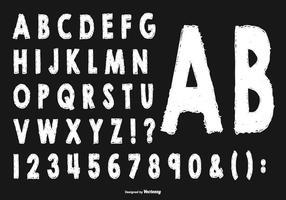 Coleção de alfabeto em estilo esboçado vetor
