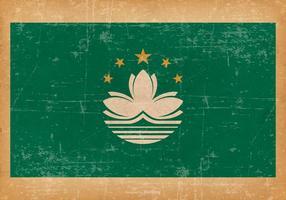 Bandeira de Grunge de Macau vetor