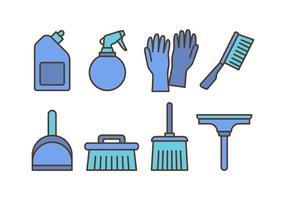 Pacote de ícones de limpeza vetor