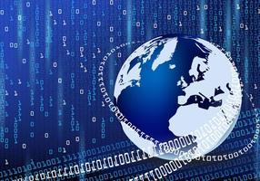 Fundo abstrato da matriz mundial digital vetor
