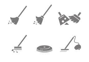 Vetores de ícones de varredura
