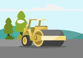 Ilustração Steamroller vetor