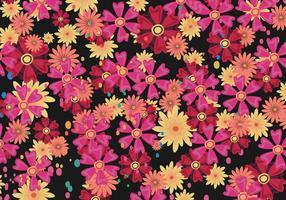 Padrão Vector Floral Ditsy