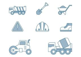 Ícones de reparação de estradas vetor