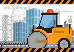 Steamroller Para Construção vetor